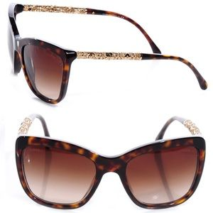 CHANEL Bijou Sunglasses 5268 Tortoise/Havana Brown